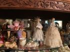 TOP SHELF OF CURIO, FIGURINES AND OTHER DECOR ITEMS