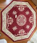 "Approx. 72"" octagonal rug, approx. 120""x30"" rug"
