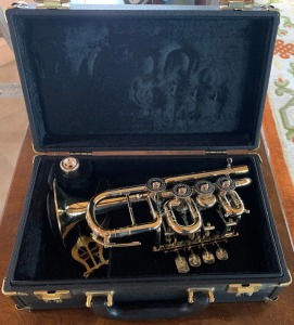 Scherzer Meister Johannes Rotary Valve Piccolo Trumpet Ref. 8111 - see video! No apparent Damage/Excellent Condition