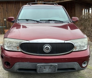 2005 Buick Rainier - has title - less than 62k miles - as-is: stuck in park - 4.2 liter engine, damage to front fender, vehicle will jump off and start but needs battery, -video available- VIN: 5GADT13S152159778