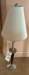 "Mid-Century Modern Lamp - 32"", spots on shade"