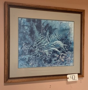 "Pencil Signed Jim Gray print - double matted, 25"" x 40"""