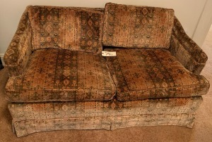Vintage upholstered love seat - 53""