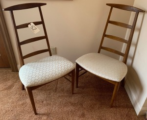 "Danish American style ladder back chairs - 39"" tall"