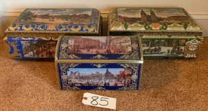3 German biscuit/chocolate tins