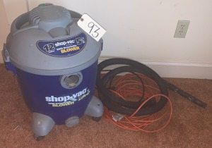 12 gal. shop vac 5.5HP w/ hose and extension cord