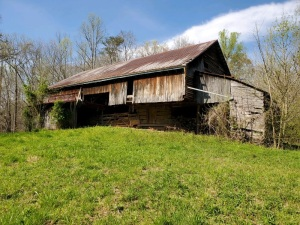 Lot 4 - 5.14 AC The Old Homeplace. The perfect mini farm! Sonme lush green pasture, some large trees, lots of Dogwoods and redbuds and wildflowers. Beautiful setting with old farm house and large, historic cantilever barn -- the kind found in Cades Cove.