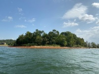 "Lot 1 ""Island"" is 63.16 total acres, please see survey under ""documents"" for location of island at full pool and other information. - 4"