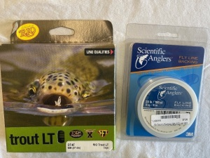 RIO Trout LT DT4 (Double Taper) Floating Line (Sage) & Scientific Angler Backing