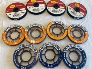 4X, 5X, 5.5X and 6.5X Trout Hunter Tippet & 2,4,5X RIO