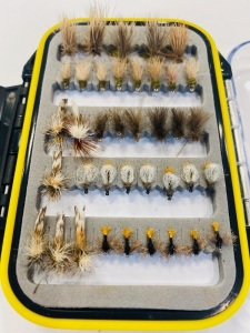 38 Flies: Caddis, emergers, parachutes