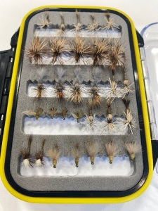 Adams, cripples, parachutes, no hackle BWOs