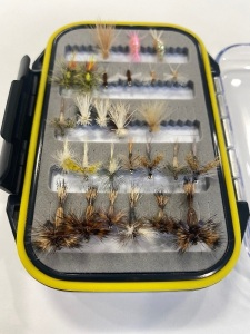 (25) Dries: Humpy, Light Cahill, Spinners, Yellow Sally, BWO parachute