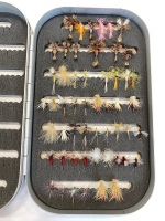 Dry Flies in Aluminum Box -- Humpy, Light Cahill, Emergers, Drakes - 2