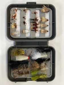 Stimulators, foam body Caddis, Humpy, Buggers, Leech