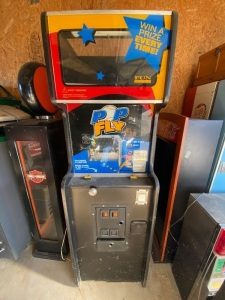POP FLY ARCADE VENDING MACHINE -- NEEDS SOME CLEANING, BELIEVED TO WORK -- BALLS INCLUDED