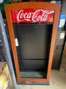 COCA-COLA RETAIL CABINET -- GLASS SHELVING INCLUDED