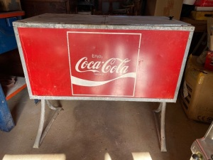 "METAL COCA-COLA ICE CHEST 35"" TALL, 35 1/2"" LONG"