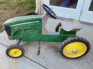 John Deere Pedal Tractor by Ertl with Wagon Trailer
