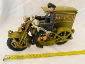 Cast Iron Postal Motorcycle