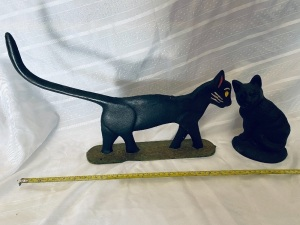 Cast Iron Cat Doorstops