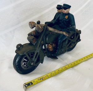 Cast Iron Motorcycle Cops