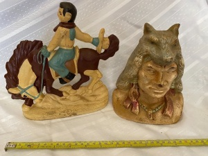 Cast Iron Cowboy & Indian
