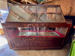 Antique Store Display Cabinet (Top and Bottom Pieces)