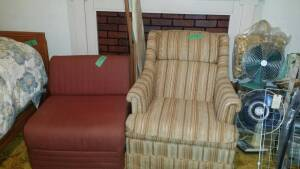 Two (2) Chairs & Wood Ironing Board