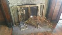 Fireplace set & fan screen