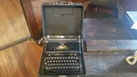 Royal typewriter with original case
