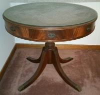 Round, claw foot table