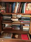 books - guns, tractor, vintage, etc. - cabinet not included