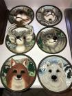 6 1995 Bradfor Exchange 'Faces of the Wile' 3D collector plates